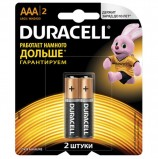 Батарейки DURACELL Basic, AAA (LR03, 24А), алкалиновые, КОМПЛЕКТ 2 шт., в блистере