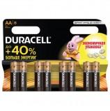 Батарейки DURACELL Basic, AA (LR06, 15А), алкалиновые, КОМПЛЕКТ 8 шт., в блистере