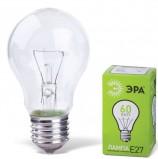 Лампа накаливания ЭРА, 60 Вт, грушевидная, прозрачная, колба d=50 мм, цоколь Е27, А55-60-230E27CL