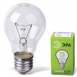 Лампа накаливания ЭРА, 75 Вт, грушевидная, прозрачная, колба d=50\55 мм, цоколь Е27, А55-75-230E27CL