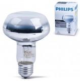 Лампа накаливания PHILIPS Spot NR80 E27 25D, 75 Вт, зерк., колба d=80 мм, цоколь d=27 мм, угол 25°, 064011