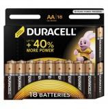 Батарейки DURACELL Basic, AA (LR06, 15А), алкалиновые, КОМПЛЕКТ 18 шт., в блистере