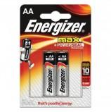 Батарейки ENERGIZER Max, AA (LR06, 15А), алкалиновые, КОМПЛЕКТ 2 шт., в блистере, E300157000