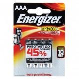 Батарейки ENERGIZER Max, AAA (LR03, 24А), алкалиновые, КОМПЛЕКТ 4 шт., в блистере, E300157304
