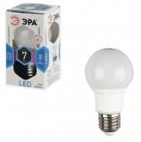 Лампа светодиодная ЭРА, 7 (60) Вт, цоколь E27, грушевидная, холодный белый свет, 30000 ч., LED smdA60-7w-840-E27