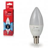 Лампа светодиодная ЭРА, 6 (40) Вт, цоколь E14, 'свеча', холодный белый свет, 25000 ч., LED smdB35-6w-840-E14ECO