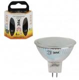 Лампа светодиодная ЭРА, 4 (35) Вт, цоколь GU5.3, MR16, теплый белый свет, 30000 ч., LED smdMR16-4w-827-GU5.3