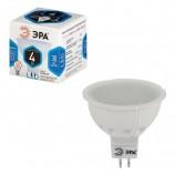 Лампа светодиодная ЭРА, 4 (35) Вт, цоколь GU5.3, MR16, холодный белый свет, 30000 ч., LED smdMR16-4w-842-GU5.3