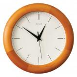 Часы настенные САЛЮТ ДС-ББ27-134, круг, белые, деревянная рамка, 31х31х4,5 см