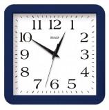 Часы настенные САЛЮТ П-А4.2-010, квадрат, белые, синяя рамка, 29,5х30х4 см