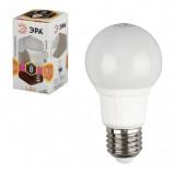 Лампа светодиодная ЭРА, 8 (70) Вт, цоколь E27, грушевидная, теплый белый свет, 25000 ч., LED smdA60-8w-827-E27, Б0020534