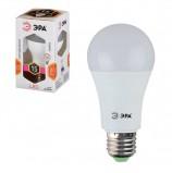 Лампа светодиодная ЭРА, 15 (130) Вт, цоколь E27, грушевидная, теплый белый свет, 25000 ч., LED smdA60-15w-827-E27, Б0020592