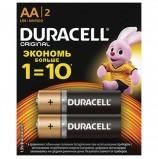 Батарейки DURACELL Basic, AA (LR06, 15А), алкалиновые, КОМПЛЕКТ 2 шт., в блистере (отрывной блок), DRC-81528136