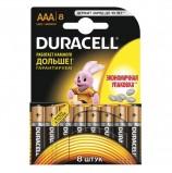 Батарейки DURACELL Basic, AAA (LR03, 24А), алкалиновые, КОМПЛЕКТ 8 шт., в блистере, 81267262