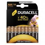 Батарейки DURACELL Basic, AAA (LR03, 24А), алкалиновые, КОМПЛЕКТ 18 шт., в блистере, 81483686