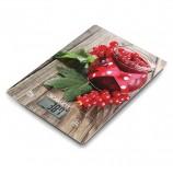 Весы кухонные SCARLETT SC-KS57P36 'Смородина', электронный дисплей, max вес 8 кг, тарокомпенсация, стекло, SC - KS57P36