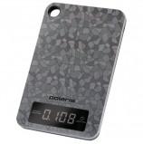 Весы кухонные POLARIS PKS 0531ADL 'Crystal', электронный дисплей, max вес 5 кг, тарокомпенсация, сталь