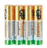 Батарейки GP Super, AAA (LR03, 24А), алкалиновые, комплект 4 шт., в пленке, 24ARS-2SB4