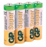 Батарейки GP Super, AA (LR06, 15А), алкалиновые, комплект 4 шт., в пленке, 15ARS-2SB4