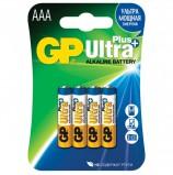 Батарейки GP Ultra Plus, AAA (LR03, 24А), алкалиновые, комплект 4 шт., в блистере, 24AUP-2CR4