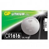 Батарейка GP Lithium, CR1616, литиевая, 1 шт., в блистере (отрывной блок), CR1616RA-7C5