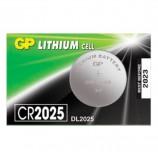 Батарейка GP Lithium, CR2025, литиевая, 1 шт., в блистере (отрывной блок), CR2025-7CR5