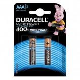 Батарейки DURACELL Ultra Power, AAA (LR03, 24А), алкалиновые, КОМПЛЕКТ 2 шт., в блистере