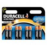 Батарейки DURACELL Ultra Power, AA (LR06, 15А), алкалиновые, КОМПЛЕКТ 8 шт., в блистере
