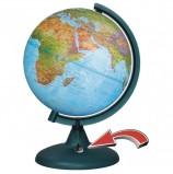 Глобус физический/политический диаметр 210 мм, с подсветкой от батареек, 16008