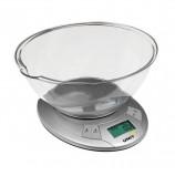 Весы кухонные UNIT UBS-2155, электронный дисплей, чаша 2,4 л, max вес 5 кг, тарокомпенсация, таймер, пластик, 473309