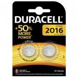 Батарейки DURACELL Lithium, CR2016, литиевые, КОМПЛЕКТ 2 шт, в блистере