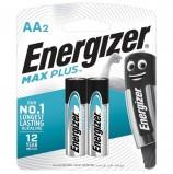 Батарейки ENERGIZER Max Plus, AA (LR06, 15А), алкалиновые, КОМПЛЕКТ 2 шт., в блистере, E301323101