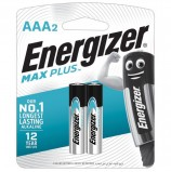 Батарейки ENERGIZER Max Plus, AAA (LR03, 24А), алкалиновые, КОМПЛЕКТ 2 шт., в блистере, E301306501