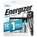 Батарейки ENERGIZER Max Plus, AA (LR06, 15А), алкалиновые, КОМПЛЕКТ 4 шт., в блистере, E301325001