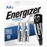 Батарейки ENERGIZER Ultimate Lithium, AA (FR06, 15А), литиевые, КОМПЛЕКТ 2 шт., в блистере, 639154