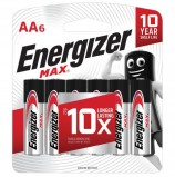 Батарейки ENERGIZER Max, AA (LR06, 15А), алкалиновые, КОМПЛЕКТ 6 шт., в блистере, E301533801