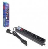 Сетевой фильтр POWER CUBE, 5 розеток, 1,9 м, черный, SPG-B-6-BLACK