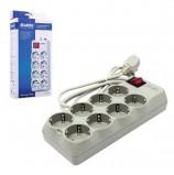 Сетевой фильтр SVEN Optima Pro, 8 розеток, 3,1 м, серый, SV-0231031GRPro