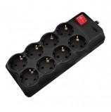 Сетевой фильтр SVEN Optima Pro, 8 розеток, 1,8 м, черный, SV-013677