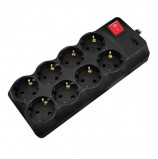 Сетевой фильтр SVEN Optima Pro, 8 розеток, 3 м, черный, SV-013721