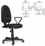 Кресло 'Престиж', регулируемая спинка, с подлокотниками, черное, В-14