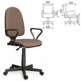 Кресло 'Престиж', регулируемая спинка, с подлокотниками, коричневое