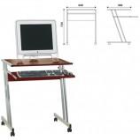 Стол компьютерный на металлокаркасе, 650х490х750 мм, ЛДСП, цвет 'орех', Д-249