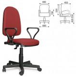 Кресло 'Престиж', регулируемая спинка, с подлокотниками, черно-красное