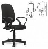 Кресло BRABIX 'Basic MG-310', с подлокотниками, черное, JP-15-2, 531409