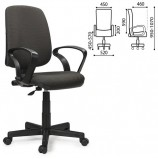 Кресло BRABIX 'Basic MG-310', с подлокотниками, серое JP-15-1, 531410