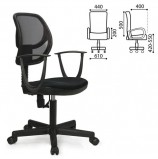 Кресло BRABIX 'Flip MG-305', до 80 кг, с подлокотниками, черное TW, 531417