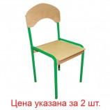 Стулья детские 'Кузя', комплект 2 шт., регулируемые, рост 1-3 (100-145 см), фанера/металл, зеленые