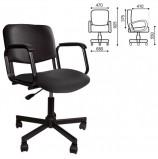 Кресло КР08, с подлокотниками, кожзаменитель, черное, КР01.00.08-201-