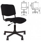 Кресло КР09, без подлокотников, черное, КР01.00.09-101-